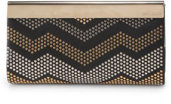 Jimmy Choo Cayla Studded Clutch - Lyst