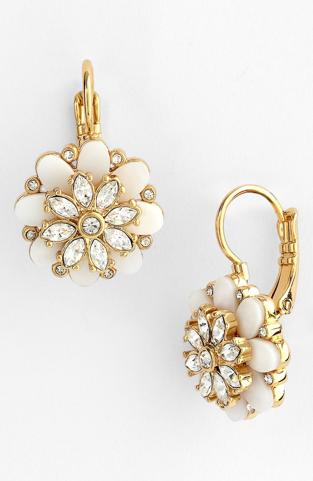 kate spade bungalow bouquet drop earrings in gold