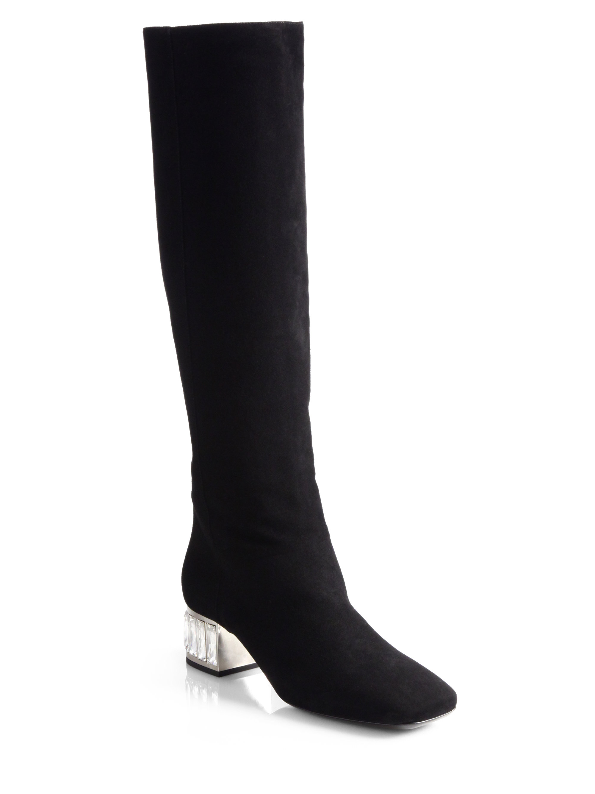 Miu Miu Black Long Boots qGfiiok