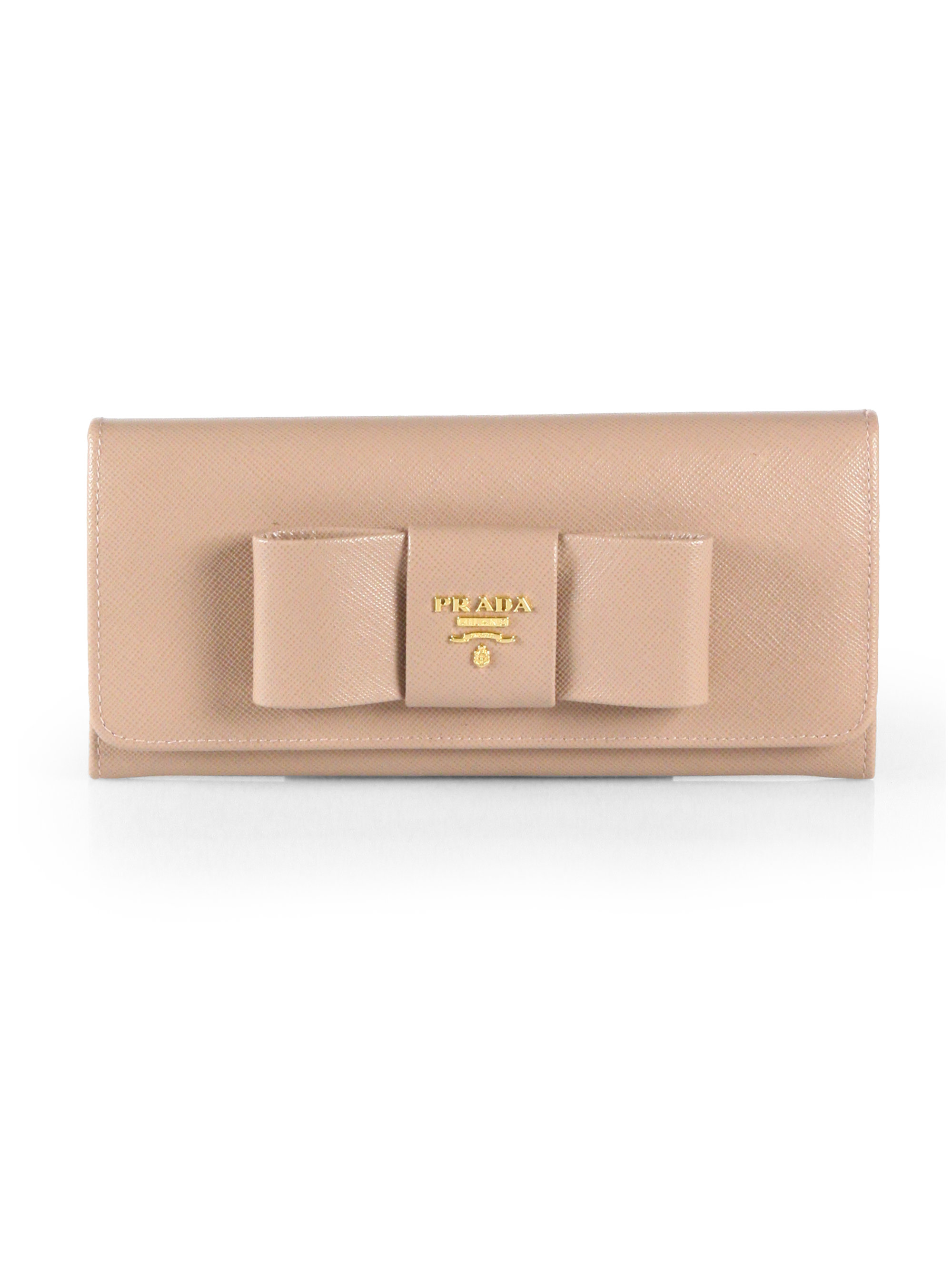 prada continental leather flap wallet