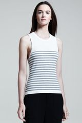 Rag & Bone Womens Giselle Perforated Striped Tank - Lyst