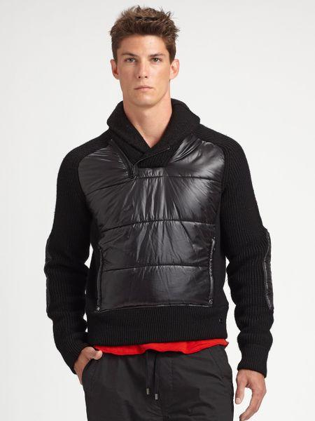 Rlx Ralph Lauren Shawl Collar Pullover In Black For Men Lyst