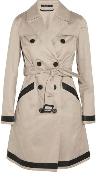 Theory Clyre Cotton twill Trench Coat - Lyst