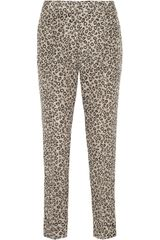 Theory Leopardprint Silk Pants - Lyst