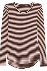 Theory Erossa Striped Stretchjersey Tshirt - Lyst