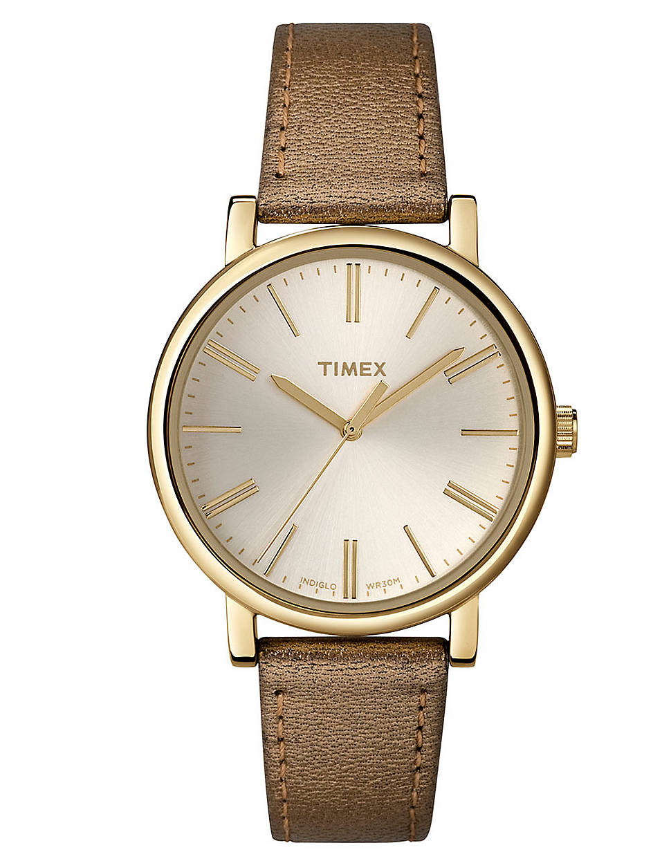 timex 174 gold metallic in brown yellow lyst