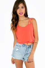 Tobi Strings For Straps Crop Top - Lyst