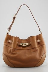Burberry Medium Leather Shoulder Hobo Bag - Lyst