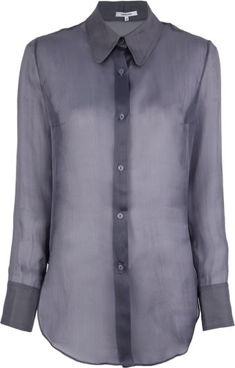 Carven Silk Blouse - Lyst