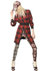 Fausto Puglisi Wool Tartan Wool Drape Shirt Dress - Lyst