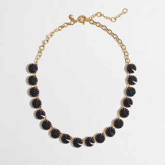 J.Crew  Brass Plated Crystal Necklace - Lyst