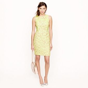 J.Crew  Neon Tweed Dress - Lyst