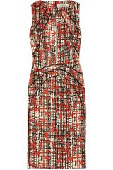 Lela Rose Printed Wool and Silk Blend Dress - Lyst