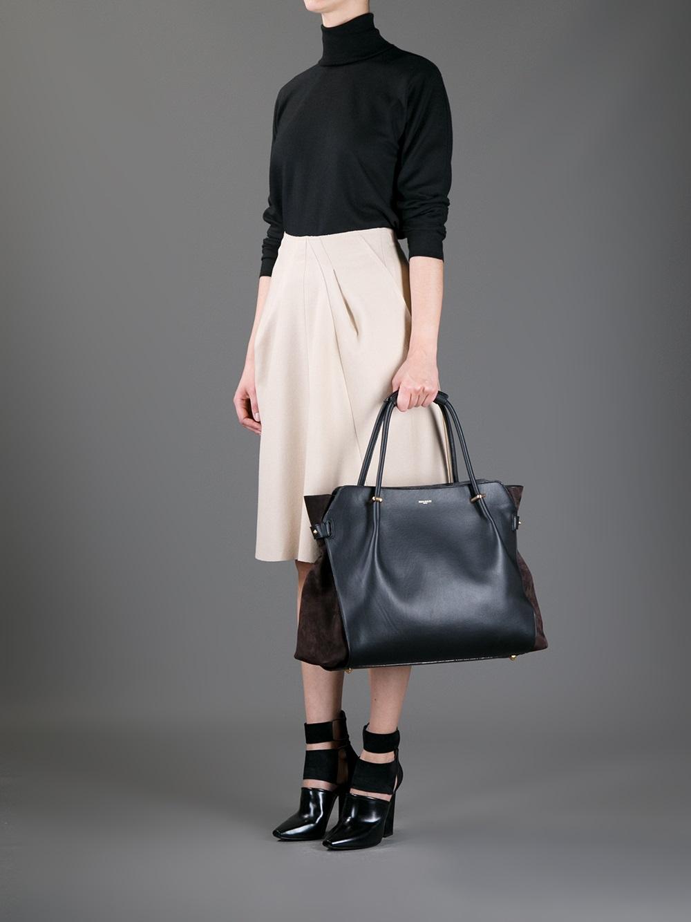 d68bb09a88 Lyst - Nina Ricci Marche Shopper Tote in Black