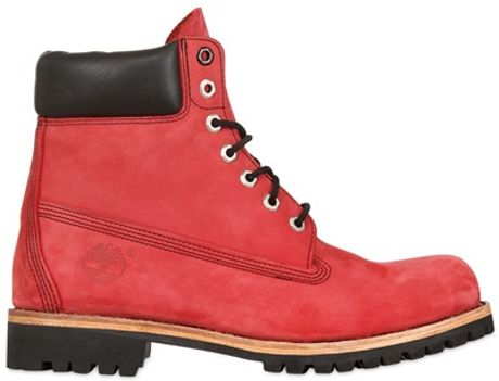 Timberland Special Edition 6 Inch Boots in Red | Lyst