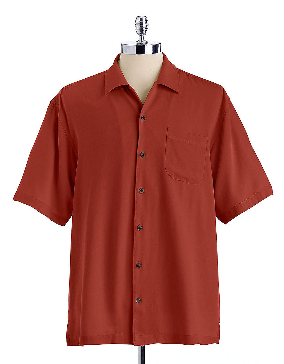 Tommy Bahama Catalina Twill Silk Shirt In Brown For Men