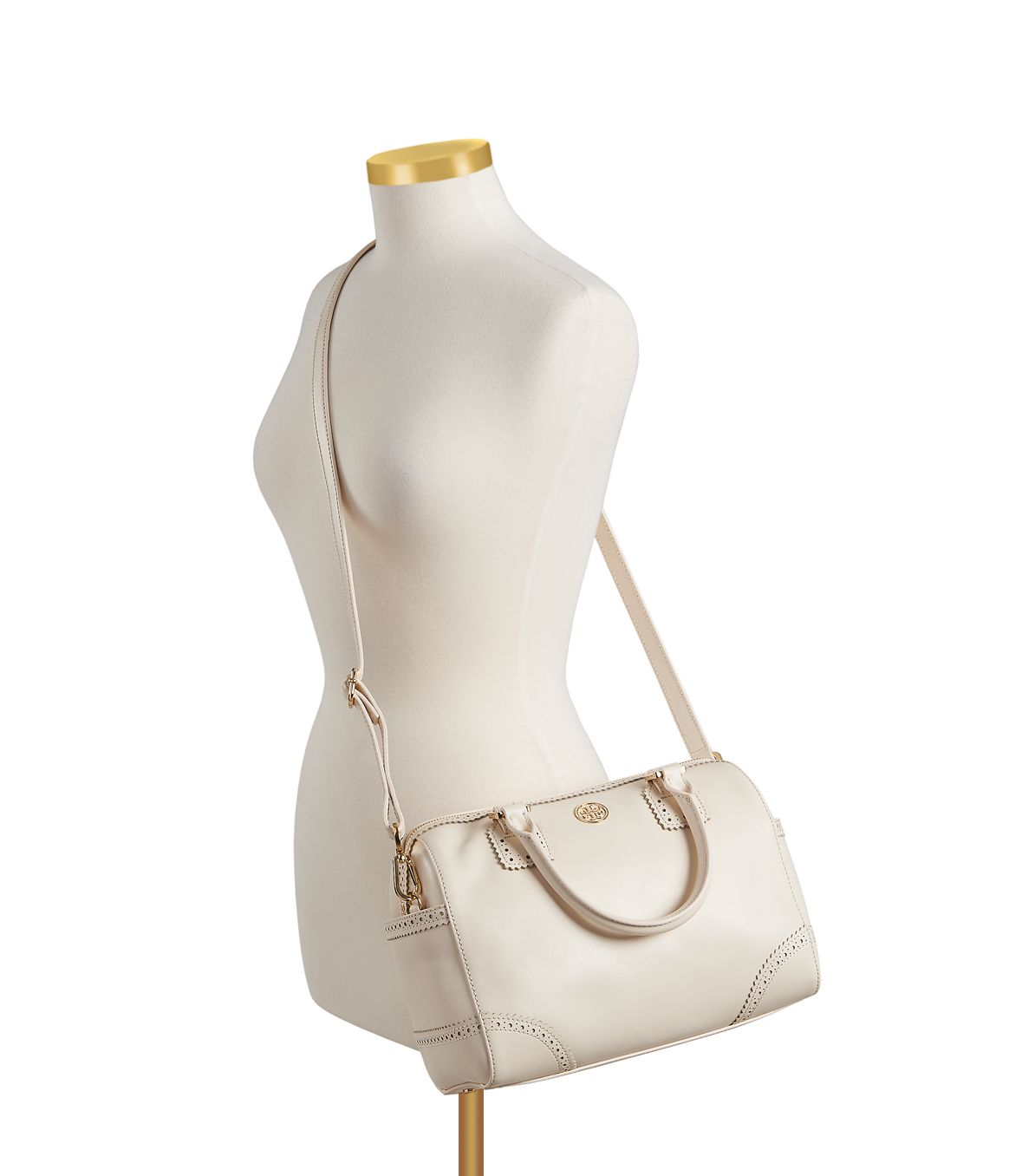 d52c47e4c6cc Lyst - Tory Burch Robinson Spectator Middy Satchel in White