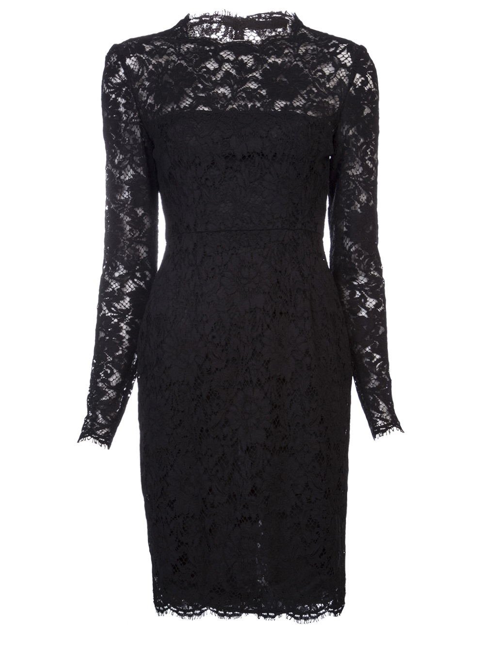 Lyst Valentino Lace Dress In Black