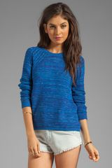Autumn Cashmere Wavy Space Dye Crew Sweater in Blue - Lyst