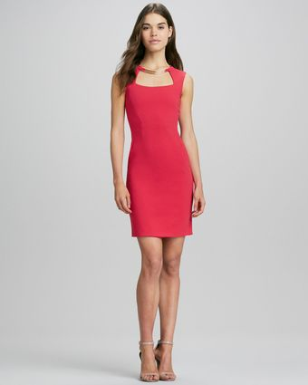 BCBGMAXAZRIA Sheath Dress with Cutout Neck - Lyst