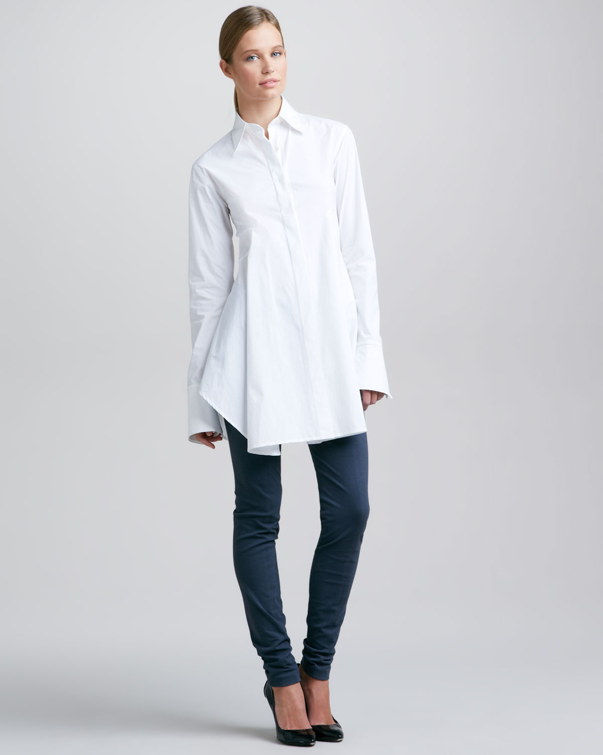 Donna karan Easy Shirt White in White | Lyst
