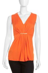 Michael by Michael Kors Pleat Front Jersey Tank - Lyst
