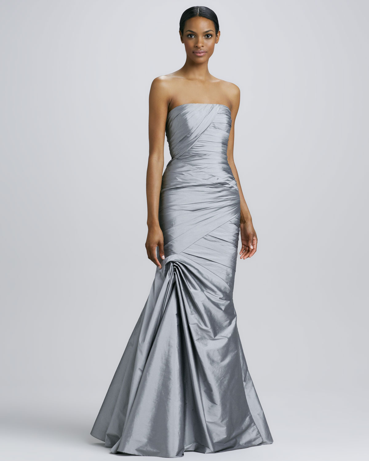 Ml monique lhuillier strapless trumpet gown in metallic lyst gallery previously sold at neiman marcus ombrellifo Choice Image