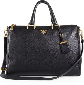 Prada Vitello Daino Boston Bag - Lyst