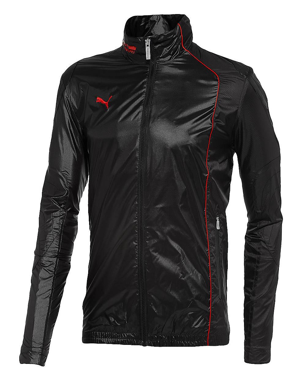 lyst puma ferrari lightweight jacket in black for men. Black Bedroom Furniture Sets. Home Design Ideas