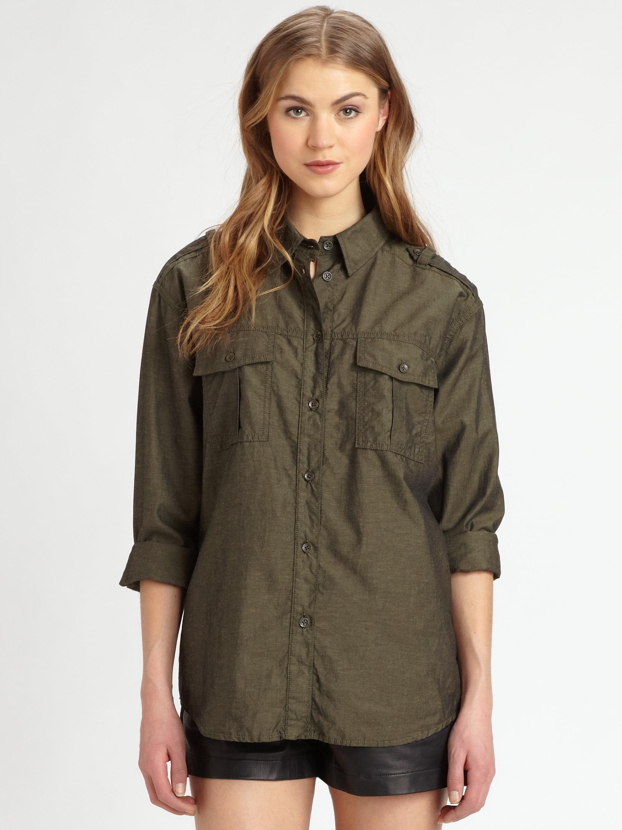 Lyst rag bone briggs shirt in green for Rag bone shirt