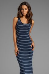 Saint Grace Low Back Dress in Navy - Lyst