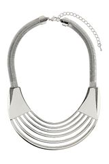 Topshop Cut Out Collar - Lyst