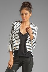 Camilla & Marc Bowline Striped Blazer in Ivory - Lyst