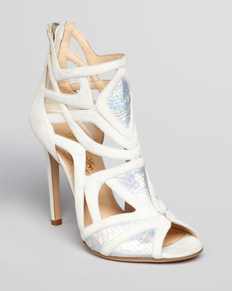 alejandro ingelmo cage sandals odyesey high heel in white