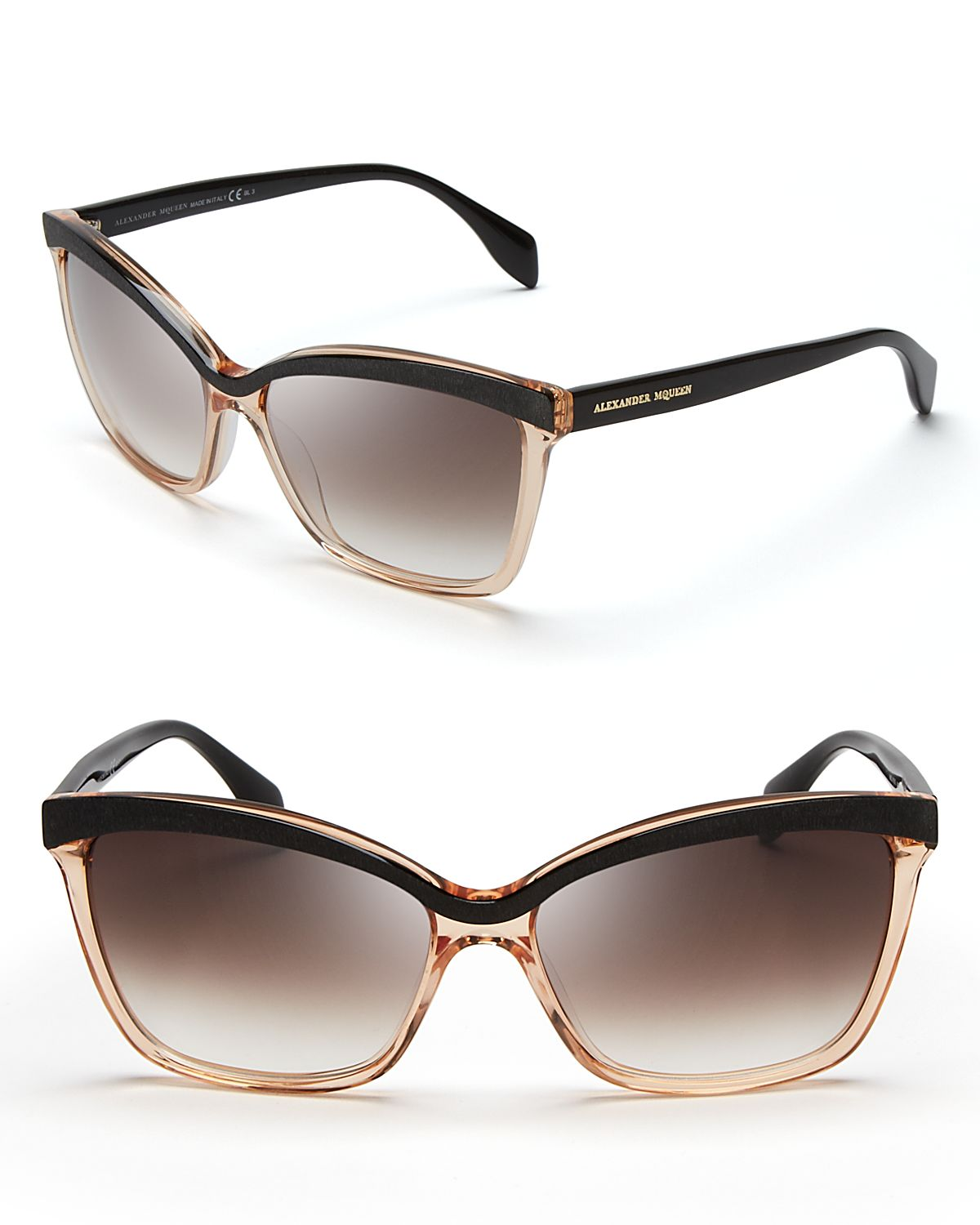 Alexander Mcqueen Cateye Sunglasses  alexander mcqueen two tone cat eye sunglasses in black lyst