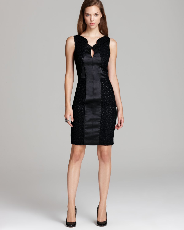 Black cocktail dress lace back