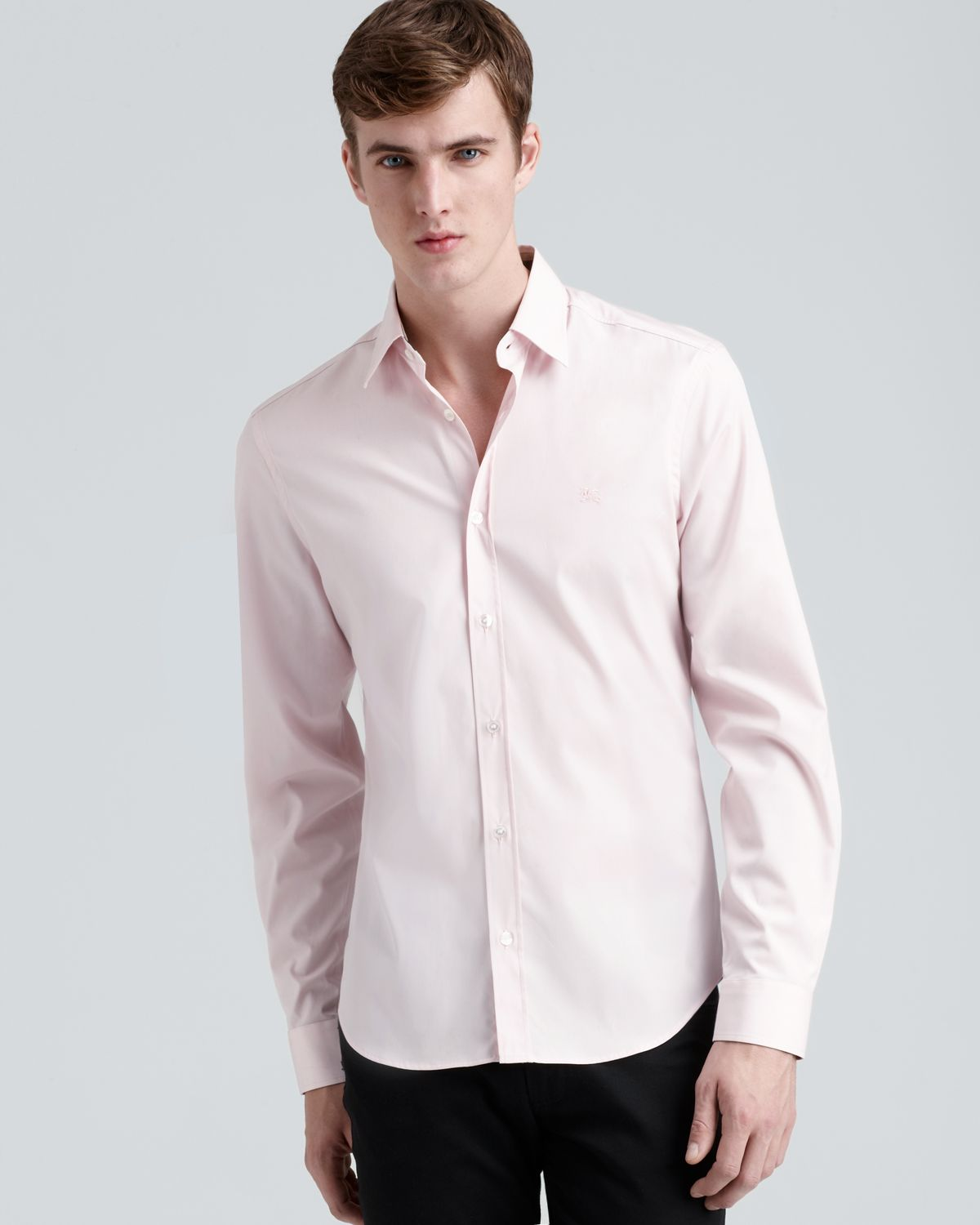 Burberry Brit Henry Sportshirt in Pink for Men | Lyst