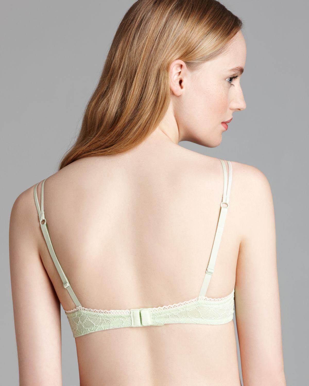 1b146d4479 Lyst - Calvin Klein Bra Lace Instinct Unlined Underwire in Green