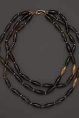 Di Modolo Triple Strand Sahara Beaded Necklace with Smoky Quartz  - Lyst