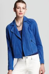 DKNY Cropped Motorcycle Jacket - Lyst