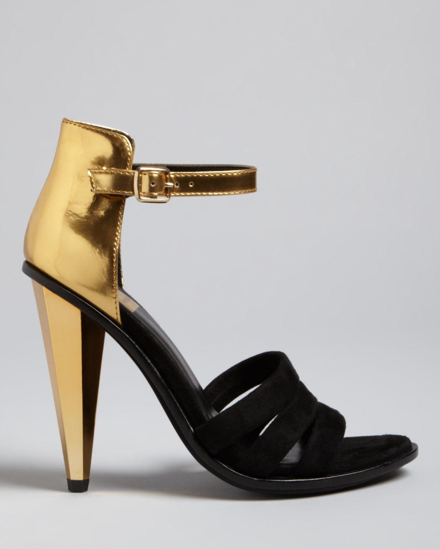 Dolce vita Strappy Evening Sandals Neci High Heel in Metallic | Lyst