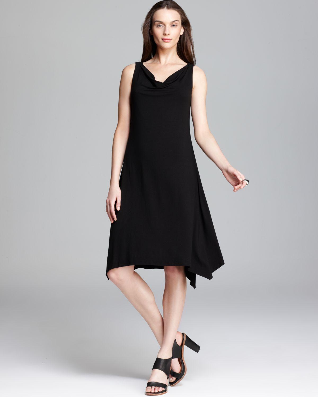 Cowl Dress: Eileen Fisher Cowl Neck Dress In Black