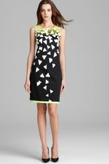 Elie Tahari Printed Dress Ginny Sleeveless - Lyst