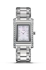 Fendi Rectangular Loop Stainless Steel Watch with Diamonds 34mm X 21mm - Lyst