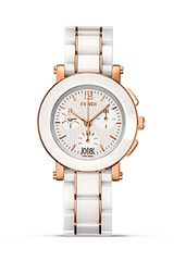 Fendi Round Ceramic Chrono Stainless Steel Watch 38mm - Lyst