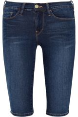 Frame Denim Le Skinny De Jeanne Stretch Denim Bermuda Shorts - Lyst