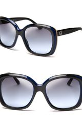Gucci Oversized Colorblock Stripe Sunglasses - Lyst