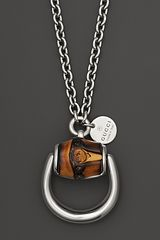 Gucci Large Bamboo Horsebit Necklace 295 - Lyst