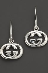 Gucci Sterling Silver Britt Earrings - Lyst