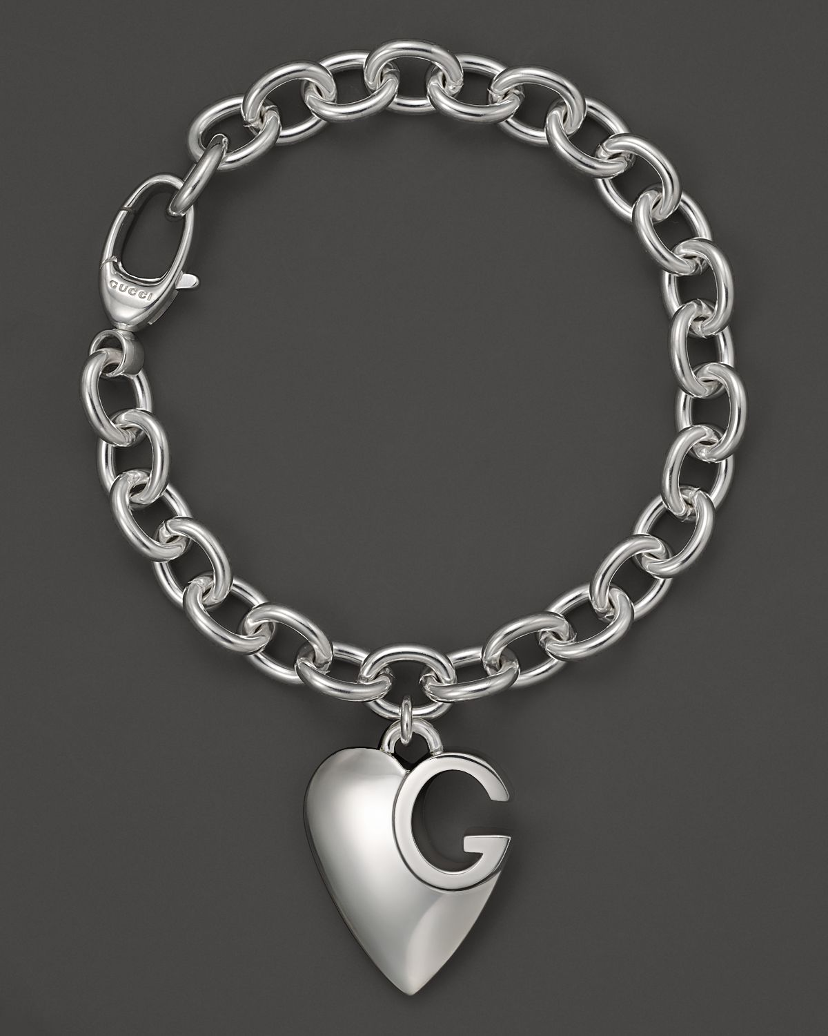 8ca5211e5 Gucci Sterling Silver Lucky Charms Bracelet With Heart Charm In